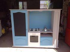 Comment transformer un meuble Tv en cuisinière pour enfants.