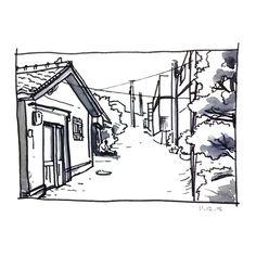 """""""습작. landscape drawing study .…"""" by chanmi"""