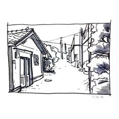 """습작. landscape drawing study .…"" by chanmi"