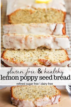 gluten free recipes Gluten Free Lemon Poppy Seed Bread made with almond flour and coconut flour, a lemon glaze, and is paleo, so no dairy in it. This moist loaf is one of the best healthy lemon poppy seed bread recipes! Almond Flour Recipes, Coconut Recipes, Dairy Free Recipes, Bread Recipes, Almond Flour Baking, Gluten Free Dairy Free Bread Recipe, Gluten Free Breads, Recipes With Lemon, Healthy Lemon Desserts