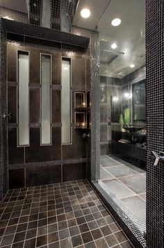 Contemporary black and gray master bathroom - contemporary - bathroom - phoenix - by Chris Jovanelly Interior Design