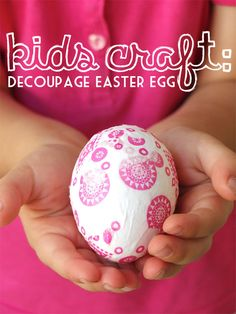 Decoupage Easter Egg - Quick and easy Easter craft for all ages.