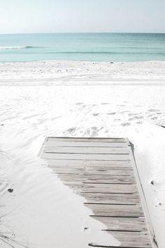 powdery sand + ocean blue