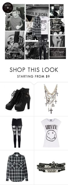 """Come as you are"" by nancyricothemusiclover ❤ liked on Polyvore featuring Glamorous, R13 and ASOS"