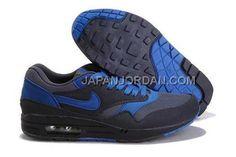 http://www.japanjordan.com/nike-air-max-1-87-mens-black-blue.html NIKE AIR MAX 1 87 MENS 黑 青 送料無料 Only ¥8,111 , Free Shipping!