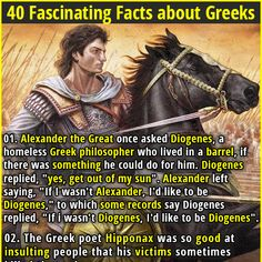 40 Fascinating Facts about Greeks Wtf Fun Facts Funny, Weird Facts, Crazy Facts, Random Facts, Alexander The Great Quotes, Read Later, Humor, History Facts, Trivia