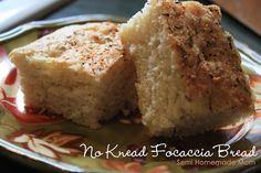 Mostly Homemade Mom: No Knead Focaccia Bread