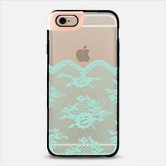 Mint Romantic Lace Transparent iPhone 6 Metaluxe Case by Organic Saturation | Casetify Get $10 off using code: 53ZPEA