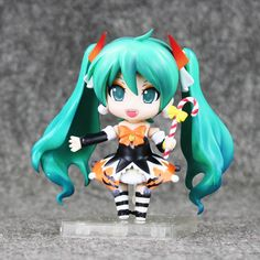 1pcs/set 10cm Color box Hatsune Miku Halloween Ver. #448 PVC Action Figure Model Collection with Gift Box by MsDIYSupplies on Etsy
