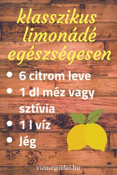Ízesített víz ötletek - használj szűrt vizet a limonádék elkészítéséhez! Kaja, Smoothies, Sweets, Food And Drink, Baking, Drinks, Healthy, Recipes, Decor