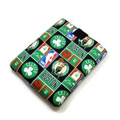 Hand Crafted Tablet Case From Licensed NBA Boston Celtics Basketball Fabric / Case for: iPad, iPad Air, Kindle Fire HD, Samusng Galaxy Tab Celtics Basketball, Mini Basketball Hoop, Basketball Games, Custom Postage Stamps, Phone Shop, Boston Celtics, Craft Gifts, Ipad Case, Samsung Galaxy
