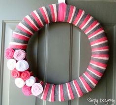 Simple Spring Felt Wreath - Simply Designing with Ashley