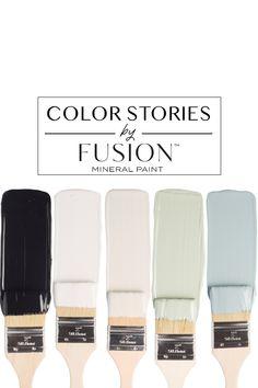 June Color Story Fusion Mineral Paint at Painted – Painted - Modern Bedroom Paint Colors, Paint Colors For Home, Vintage Paint Colors, Paint Colours, Colour Pallete, Colour Schemes, Cor Rose Gold, June Colors, Paint Combinations