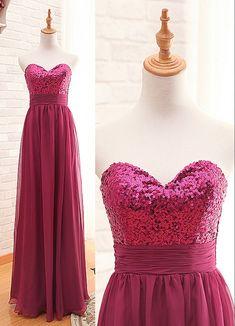 Empire Sequins Burgundy Chiffon Prom Dress,Sequins Bridesmaid Dress,Burgundy Bridesmaid Dress,Free Shipping Bridesmaid Dress