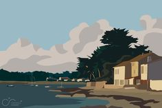 Clémence Renault - Vue sur mer - 2016 Digital Painting, Painting