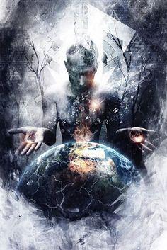 Modern Esoteric Art And Symbolism - Cameron Gray - Left Of Me Psychedelic Art, Art Gris, Tattoo Geometrique, Cameron Gray, Art Visionnaire, Cosmic Art, Vision Art, Esoteric Art, Fantasy Kunst