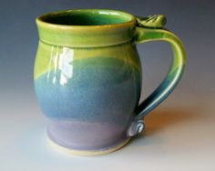 Pottery Coffee Mug / Handmade Wheel Thrown by riverstonepottery, $24.00