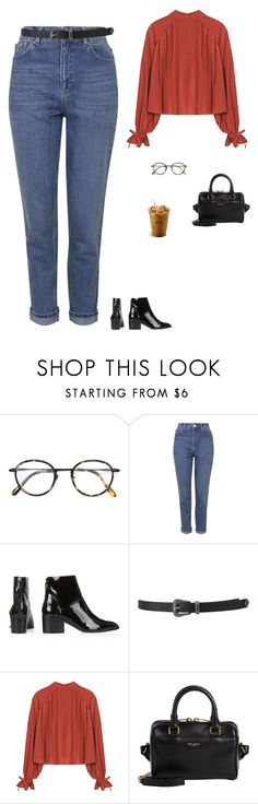 """""""Untitled #1559"""" by tayloremily218 on Polyvore featuring Frency & Mercury, Topshop, Forever 21 and Yves Saint Laurent"""