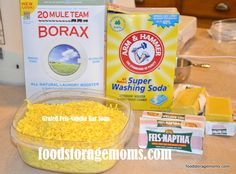 How To Make Laundry Detergent by Food Storage Moms