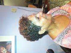 Wax curls on natural hair