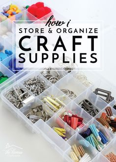 Check out these smart and easy ways to store craft supplies so that you too can have everything you need neat, tidy and still accessible! Craft Organization, Craft Storage, Storage Ideas, Dog Supplies, Craft Supplies, Office Supplies, Space Crafts, Craft Space, Organizing Your Home