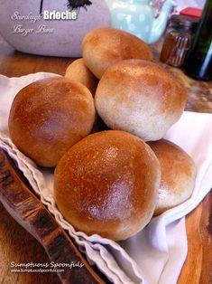 Sourdough Brioche Burger Buns | Sumptuous Spoonfuls