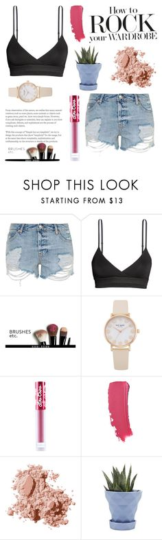 """Untitled #361"" by evelina103 ❤ liked on Polyvore featuring Topshop, H&M, Bobbi Brown Cosmetics, Lime Crime and Chive"