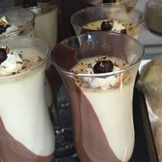 Coffee Panna Cotta With Cacao Nibs Recipe — Dishmaps