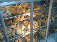 Real bagels can only be found in New York. It's the water and the baker's attitude. No doubt about it!