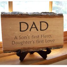DAD wooden plaque - what a great Father's Day gift