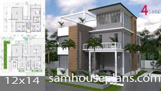 Apartment Plans with 18 UnitsThe House has:-Car Parking and garden-Living room,-Dining Bedrooms units Bed units Small Apartment Plans, Small Apartments, Three Story House, 2 Bedroom House Plans, Architectural House Plans, Garden Living, House Blueprints, Sims House, Building A House