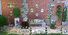 DREAM GARDEN clutter at Alelore Sims Blog via Sims 4 Updates