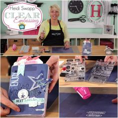 Heidi Swapp: Clear Embossing - Watch Heidi Swapp as she shares her tips and tricks for creating pretty things with a simple clear embossing technique in today's episode.  http://www.mycraftchannel.com/Shows/Create-to-Remember-with-Heidi-Swapp/Heidi-Swapp-Clear-Embossing/