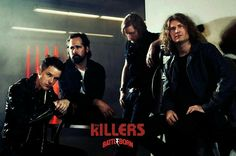 The Killers for a Battle Born photo shoot