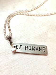 Be Humane Animal Welfare Awareness by IndieEclecticJewelry on Etsy, $21.00