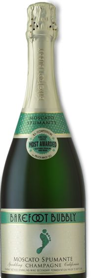Tasty Champagne - Barefoot Moscato Spumante. My FAVORITE!