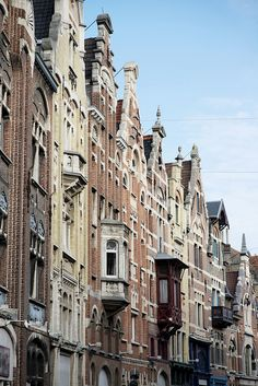 Houses in Ghent, Belgium. Different styles of gabled houses in Ghent, which you see all through Belgium. Photo: Natasha