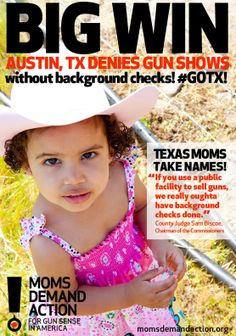 Persistence pays off! Proud of the Texas moms, who fought long and hard for this victory in Travis County. Moms Demand Action for Gun Sense in America. #gunviolence #gunsafety #gunsense