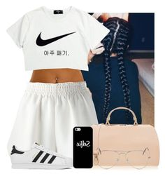 """""Not letting anyone get in my way""✌✌✌"" by gxldenqueen ❤ liked on Polyvore featuring STELLA McCARTNEY, NIKE, Furla, adidas, Casetify and Ray-Ban"