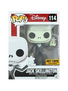 Jack Skellington (with snowflake) is given a fun, and funky, stylized look as an adorable collectible vinyl figure! Hot Topic exclusive!