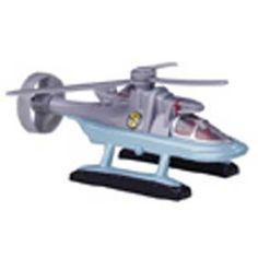 Helicóptero do Capitão vermelho (Patrick) seriado Captain Scarlet com som - Arte em Miniaturas
