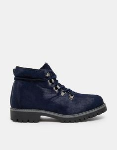 Bronx Chunky Hiker Leather Ankle Boots