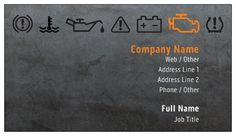 Dark Gray Auto Mechanic Business Cards, Bold Orange Business Cards | Vistaprint