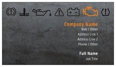 Dark Gray Auto Mechanic Business Cards, Bold Orange Business Cards   Vistaprint