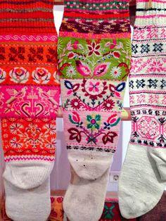Estonian socks {Fancy Tiger}