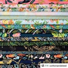 Oh my word!  Another sneak peak from Cotton + Steel.  August can't come soon enough.  #Repost @cottonandsteel with @repostapp ・・・ Who wants to see some of the fabrics in the next @riflepaperco collection?  It's #sneakpeekfridays time again! Menagerie, designed by @annariflebond, features some of Rifle's latest jungle inspired art, along with lots of other well-loved Rifle imagery. There are lots of metallics and a ton of substrates in this collection, including our brand new cotton/rayon…