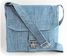 Chambray Messenger Bag