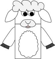 Lamb paper bag puppet - I think we're going to work on making this on the weekend and I'll add a photo when we do!