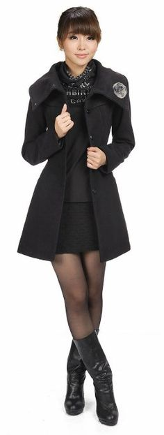 Amazon.com: LANHUACAO Woolen Coat with Belt Outwear Womens: Clothing