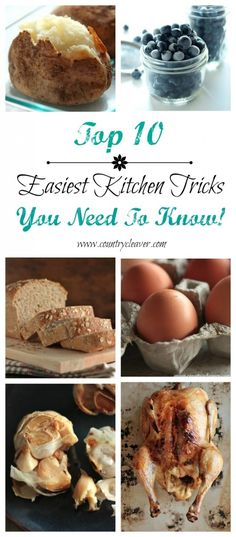 Top 10 Easiest Kitchen Tricks You Need to Know!! from @Megan {Country Cleaver}